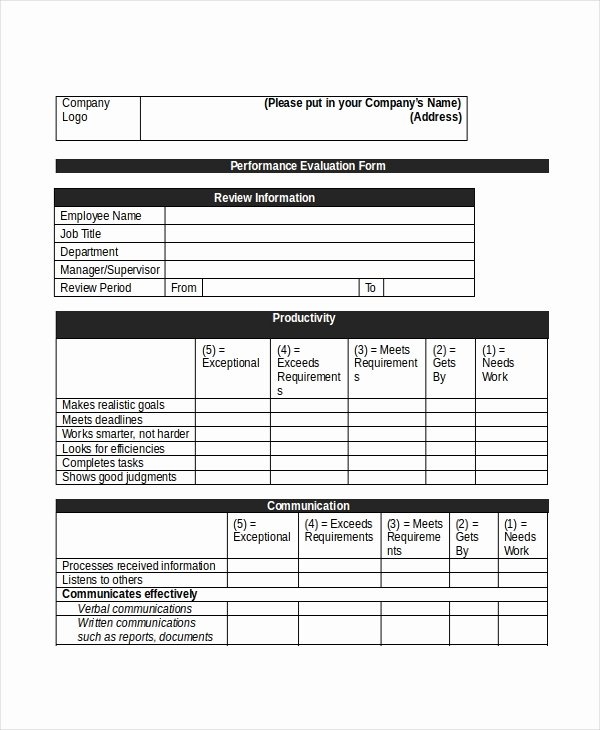 Sales Performance Appraisal form Fresh Sample Retail Appraisal forms 8 Free Documents In Pdf Doc