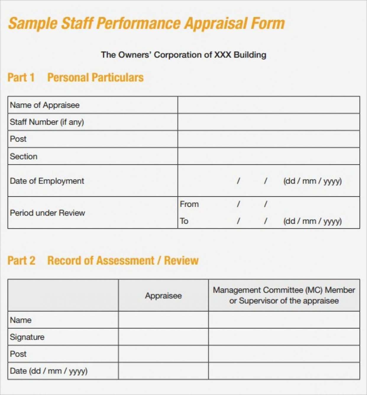 Sales Performance Appraisal form Unique Seven Ways How to Get the Most From This