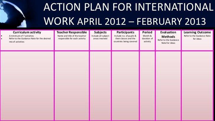 Sample Action Plan for Teachers Elegant Action Plan