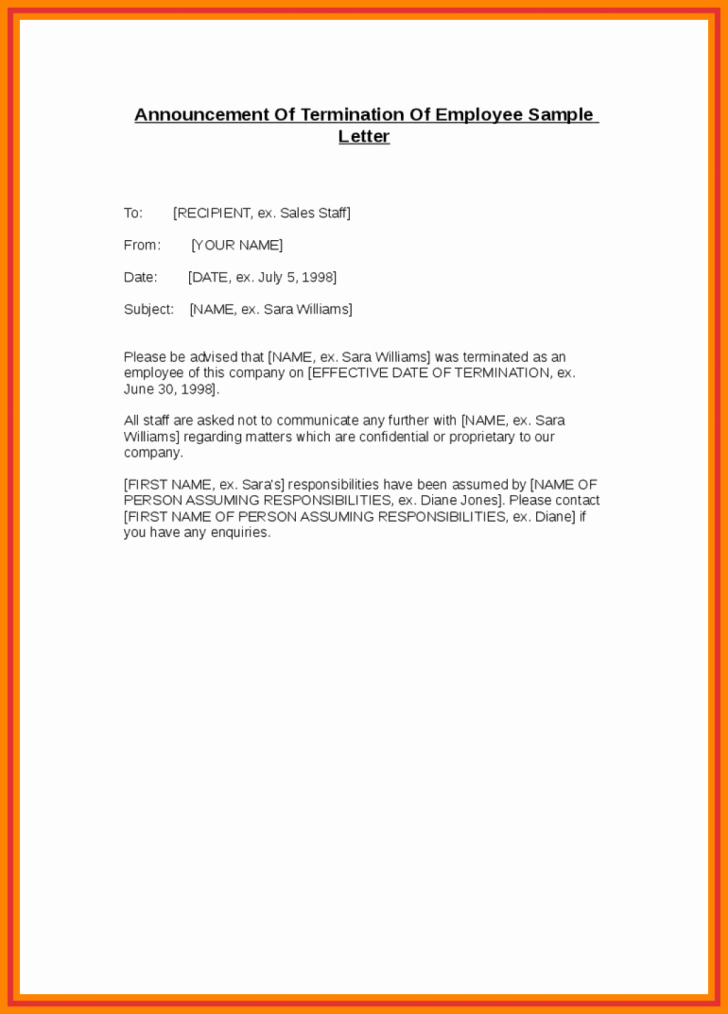 Sample Announcement Of Employee Leaving Luxury Employee Leaving Announcement Sample – Letter