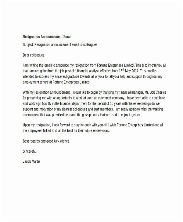 Sample Announcement Of Employee Leaving Unique 11 Announcement Email Examples & Samples Pdf Doc