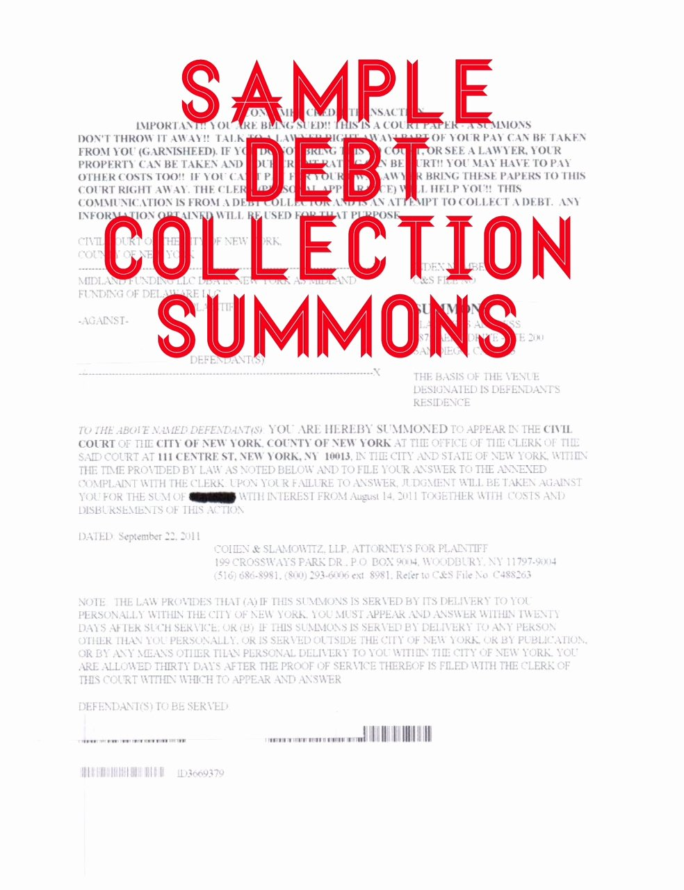 Sample Answer to Complaint Unique How to Answer A Summons and Plaint In A Debt Collection
