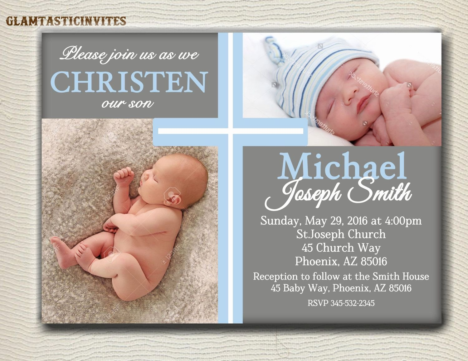 Sample Baptismal Invitations Beautiful Boy Baptism Invitations Background