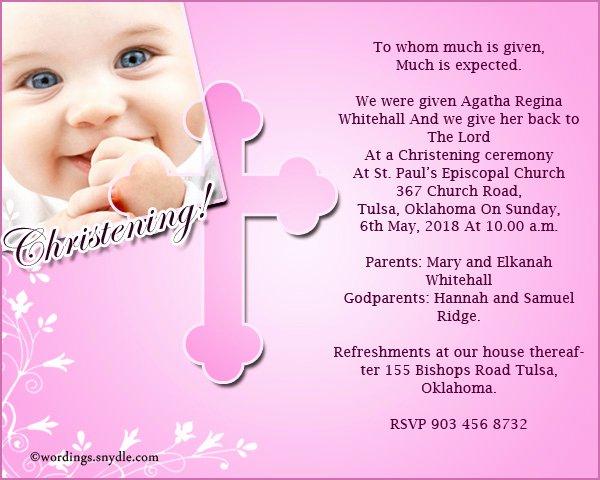 Sample Baptismal Invitations Beautiful Christening Invitation Wording Samples Wordings and Messages