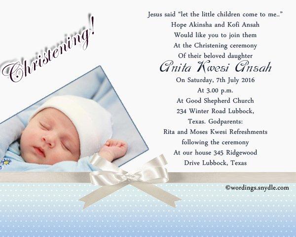 Sample Baptismal Invitations Elegant Christening Invitation Wording Samples Wordings and Messages
