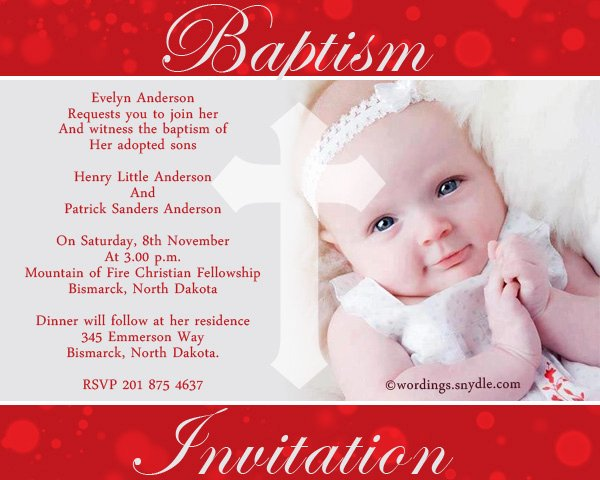 Sample Baptismal Invitations Inspirational Baptism Invitation Wording Samples Wordings and Messages