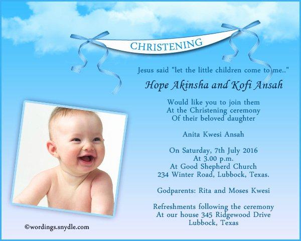 Sample Baptismal Invitations Inspirational Christening Invitation Wording Samples Wordings and Messages