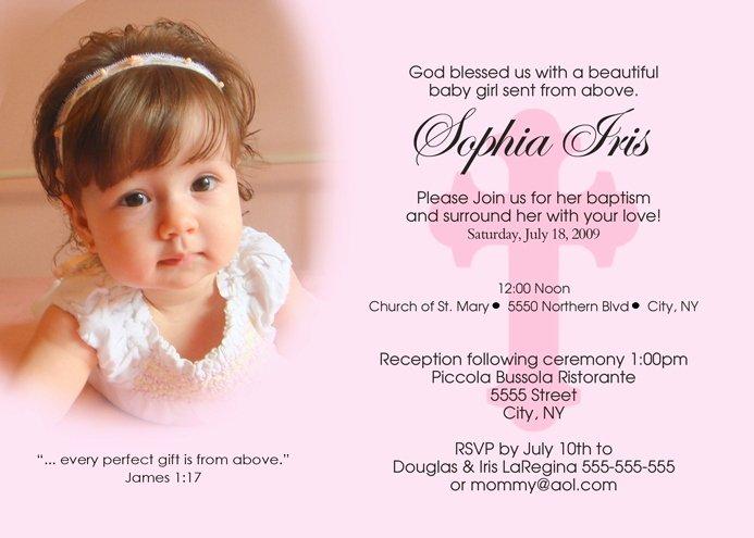 Sample Baptismal Invitations Inspirational Sample Christening Invitation Layout