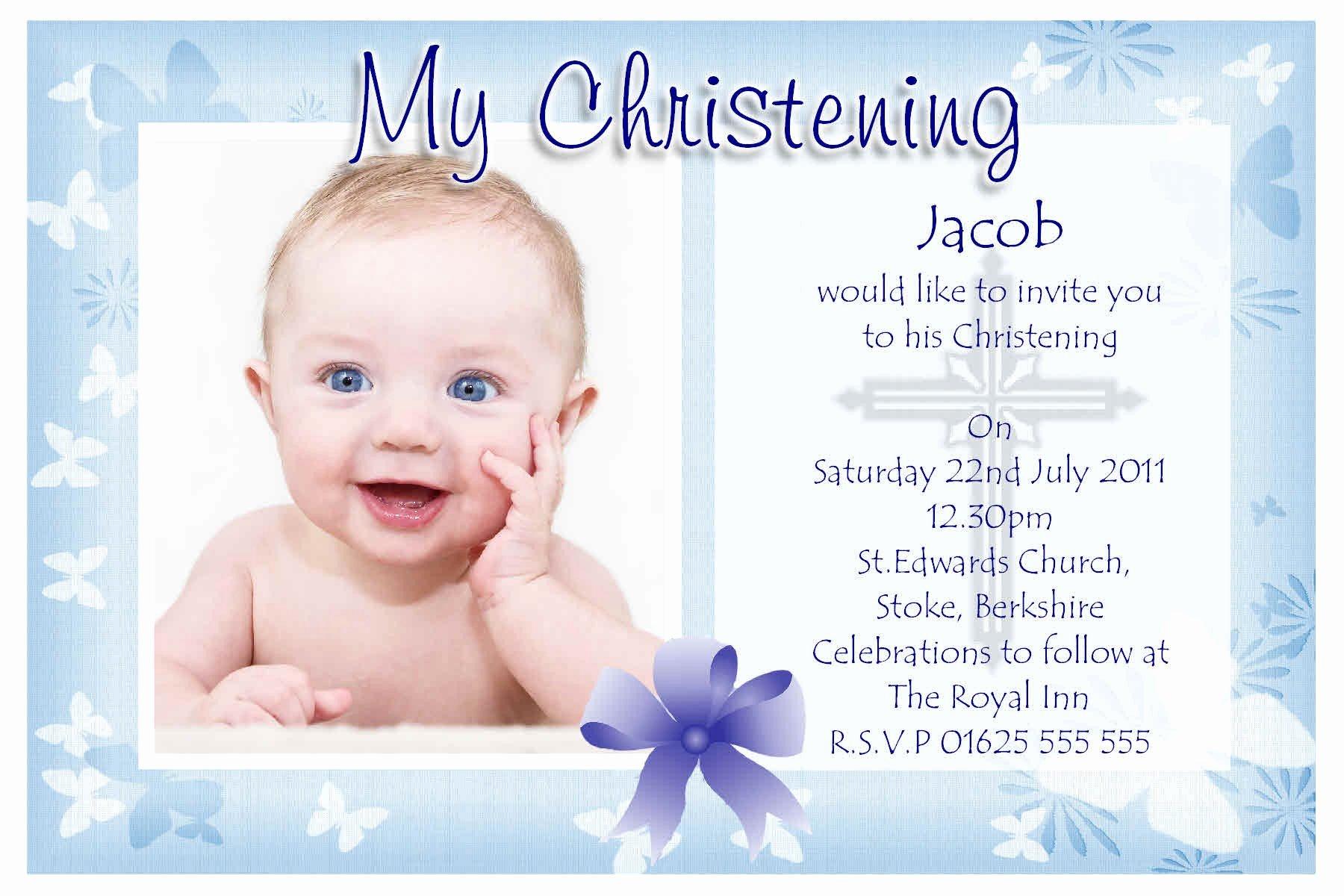 Sample Baptismal Invitations Lovely Baptism Invitations Free Baptism Invitation Template