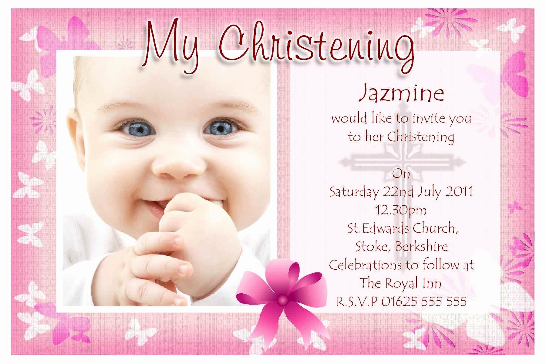 Sample Baptismal Invitations Luxury Baptism Invitations Free Baptism Invitation Template