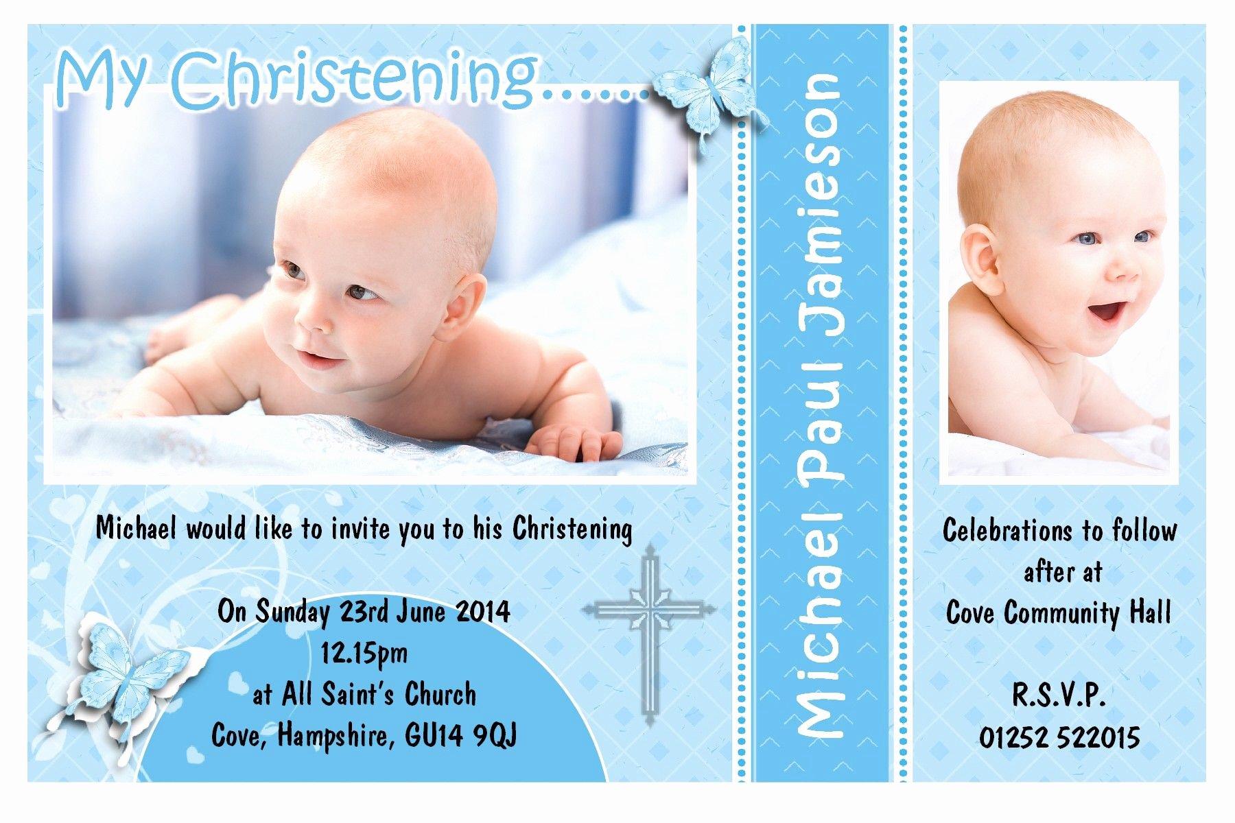Sample Baptismal Invitations Unique Free Baptism Invitation Template