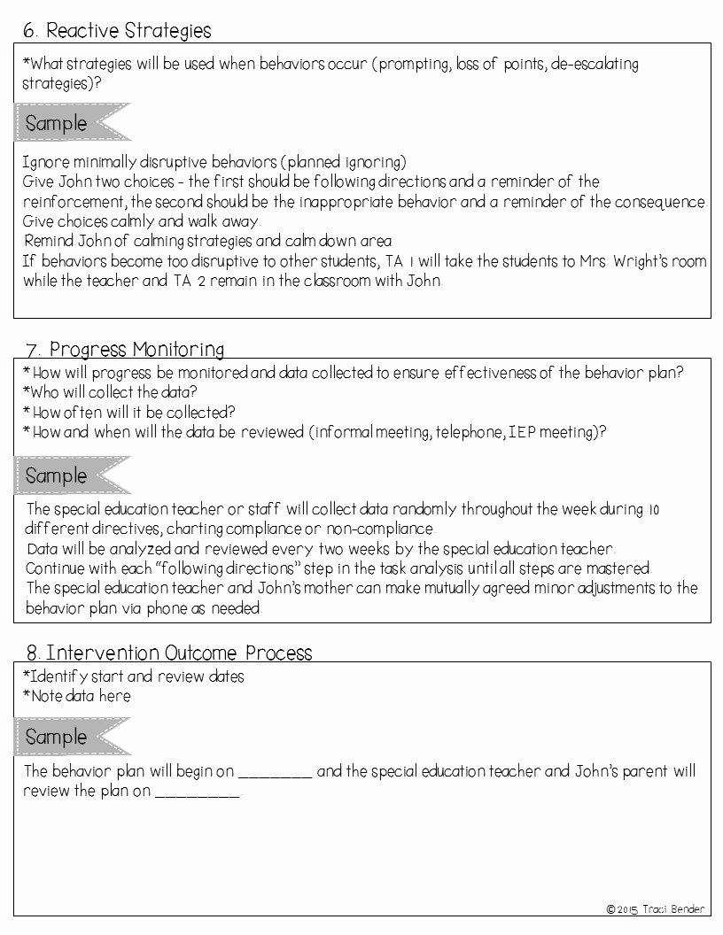 Sample Behavior Plan Beautiful the Bender Bunch Creating A Behavior Intervention Plan Bip