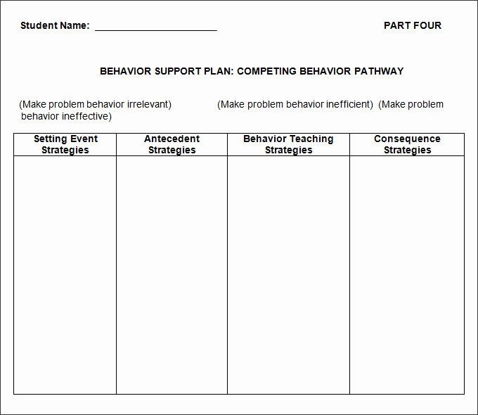 Sample Behavior Plan Fresh Behavior Plan Template 3 Free Word Pdf Documents