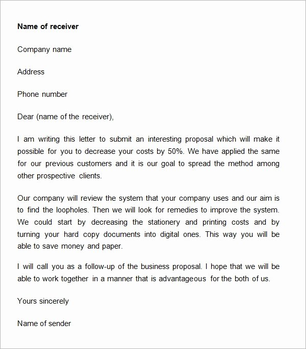 Sample Business Proposal Letter for Partnership New 38 Sample Business Proposal Letters Pdf Doc