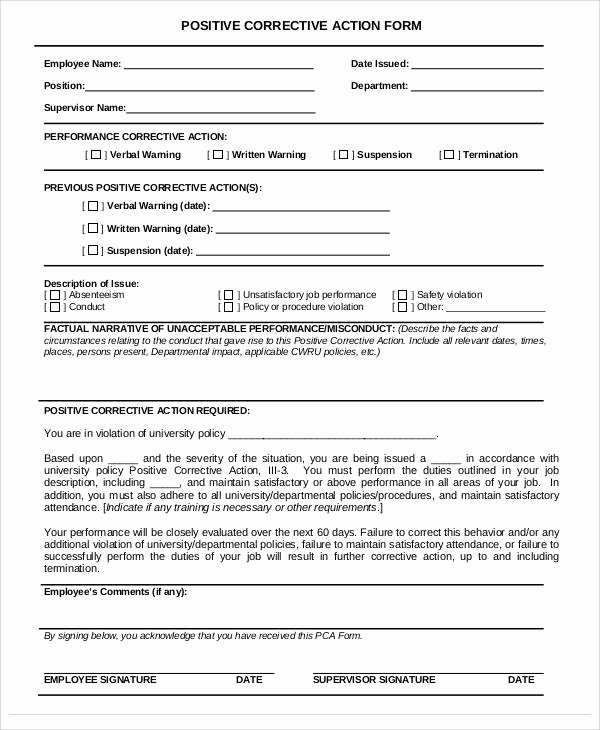 Sample Capa form Luxury 38 Sample Action forms In Pdf