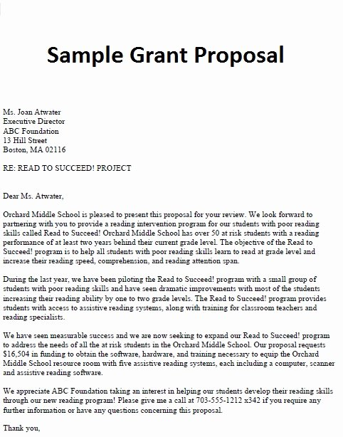 Sample Cover Letter for Grant Proposal Beautiful Business Proposal Letter November 2012