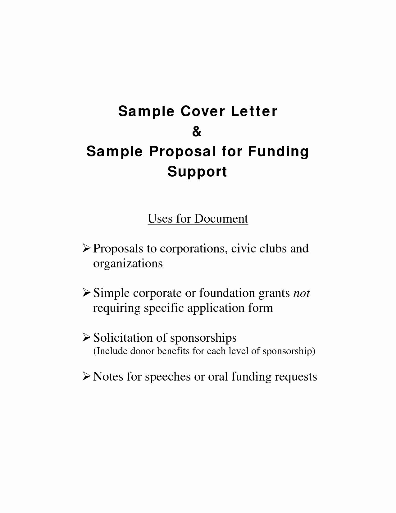 Sample Cover Letter for Grant Proposal Elegant Letter Of Support for Funding Sample & Templates