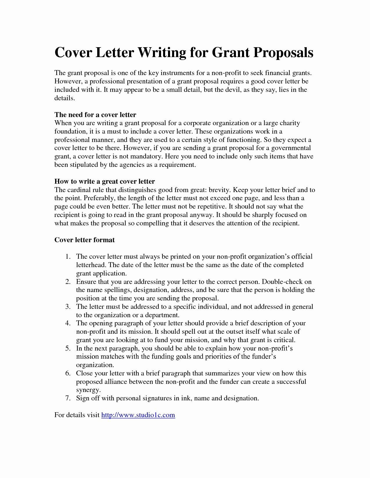 Sample Cover Letter for Grant Proposal Lovely 35 Fast Sample Business Proposal Letter for Funding