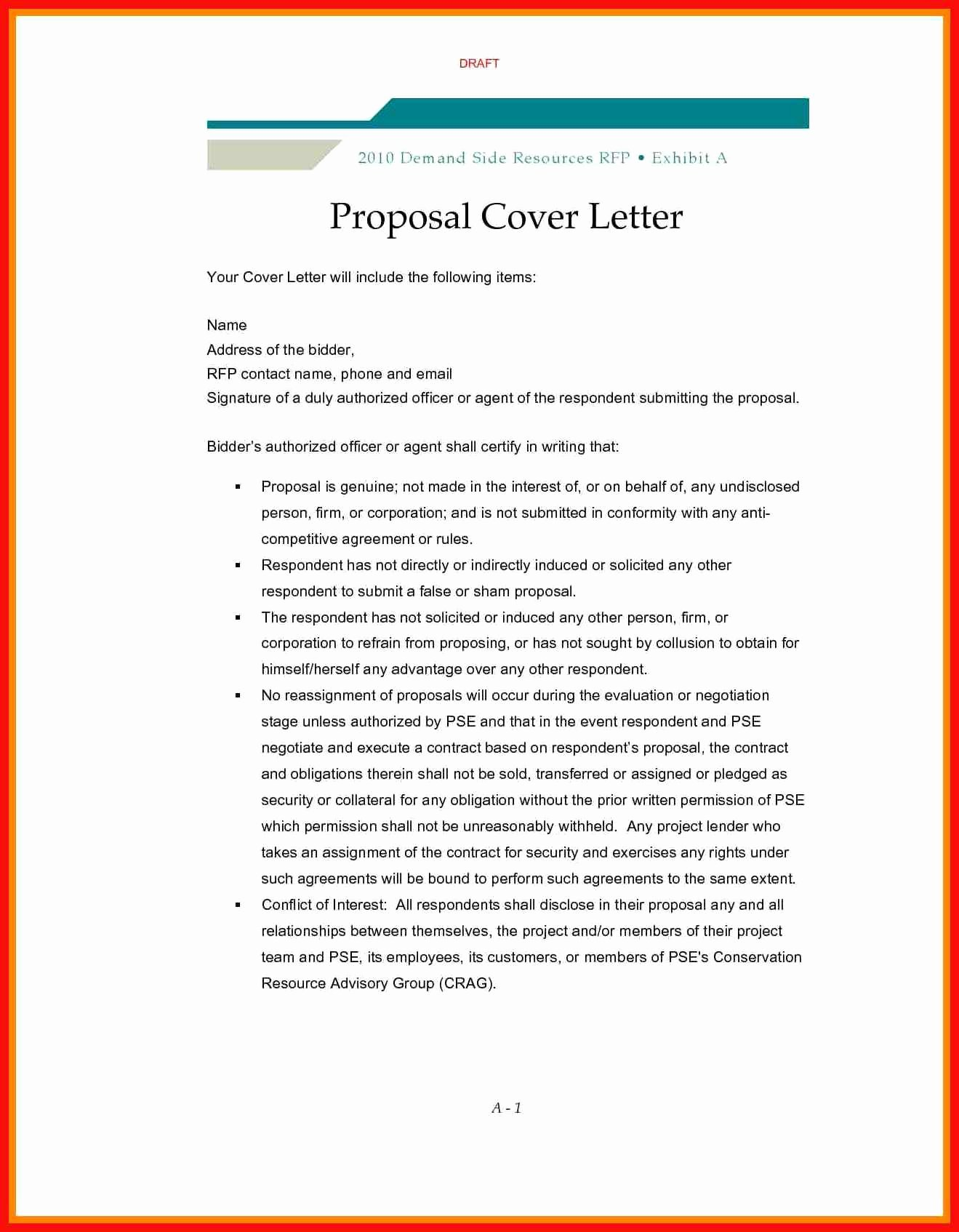 Sample Cover Letter for Grant Proposal Lovely Rfp Cover Letter Template