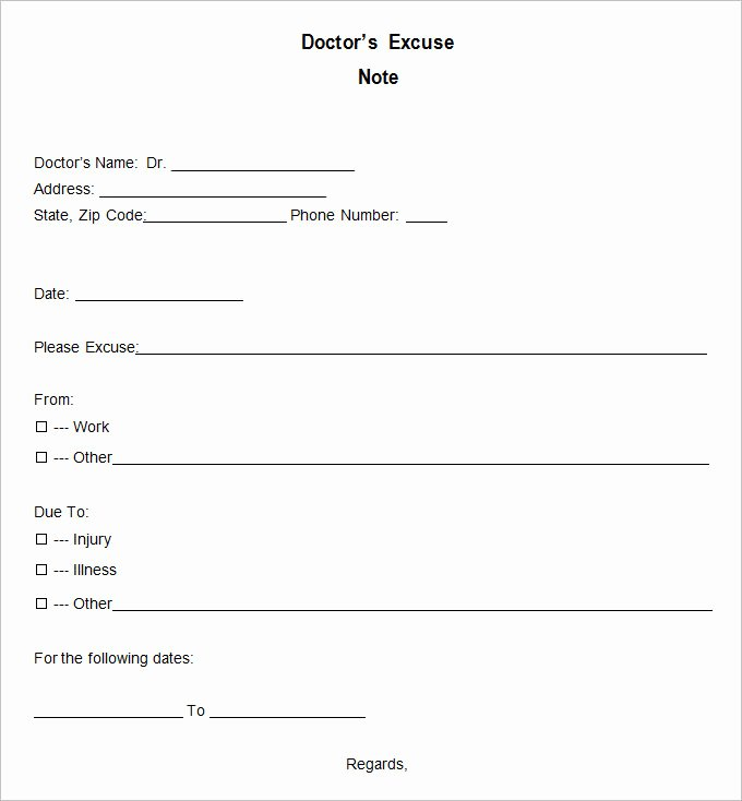 Sample Doctors Excuse Lovely 9 Doctor Excuse Templates Pdf Doc