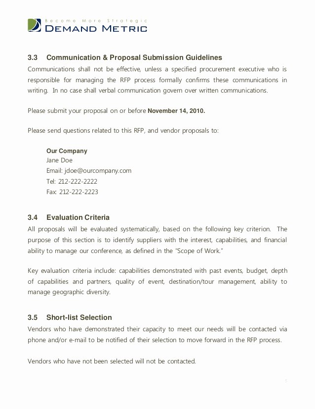 Sample Email for Proposal Submission Fresh Sample Email for Proposal Submission