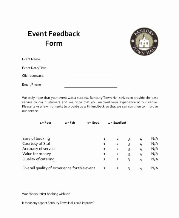 Sample event Evaluation form Awesome 9 Sample event Feedback forms