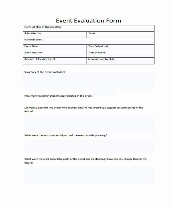 Sample event Evaluation form Elegant 26 Sample event Evaluation forms