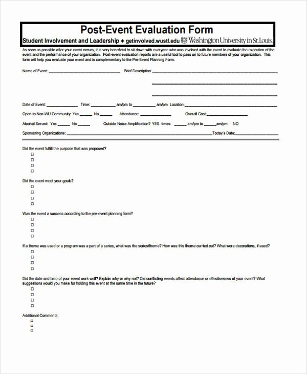 Sample event Evaluation form Inspirational 15 event Feedback form Templates