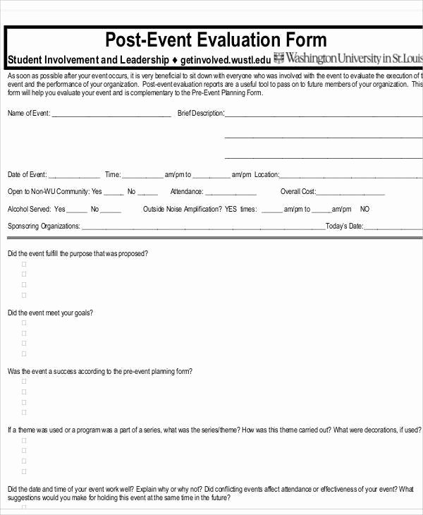 Sample event Evaluation form Lovely 16 event Evaluation form In Doc – event