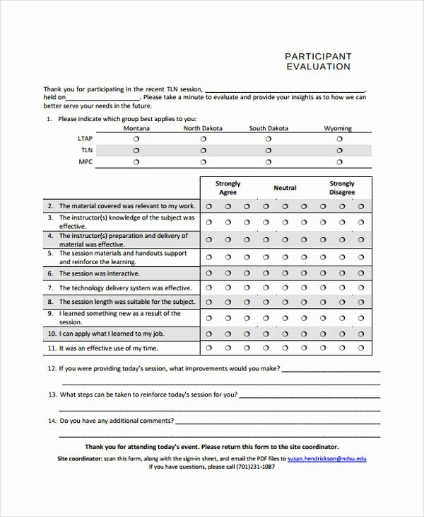 Sample event Evaluation form Lovely 32 Free event Evaluation form