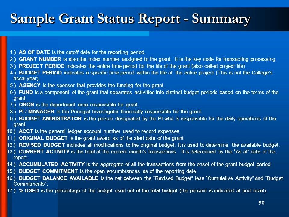 Sample Grant Report Best Of Teachers College Banner Basics Ppt Video Online