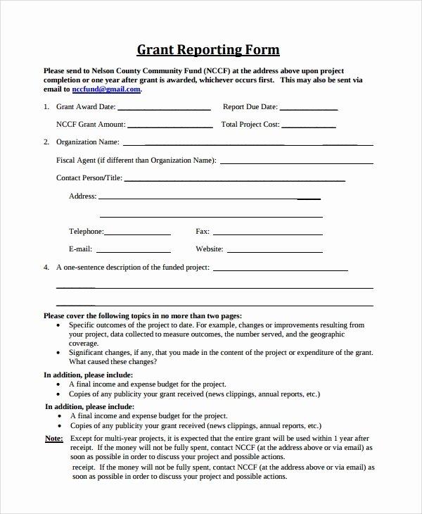 Sample Grant Report Elegant 9 Sample Grant Report forms