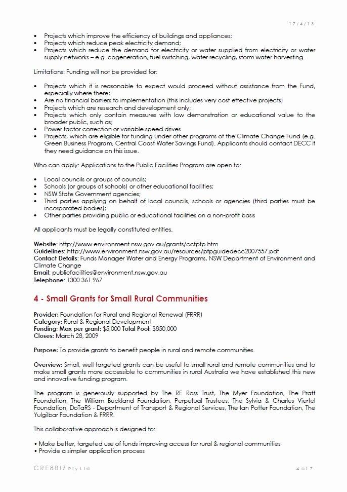 Sample Grant Report Lovely Ideas & Start Up