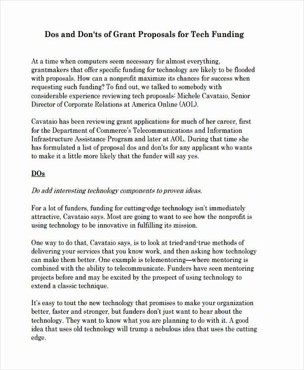 Sample Grant Report New 8 Non Profit Proposal Examples & Samples Doc Pdf
