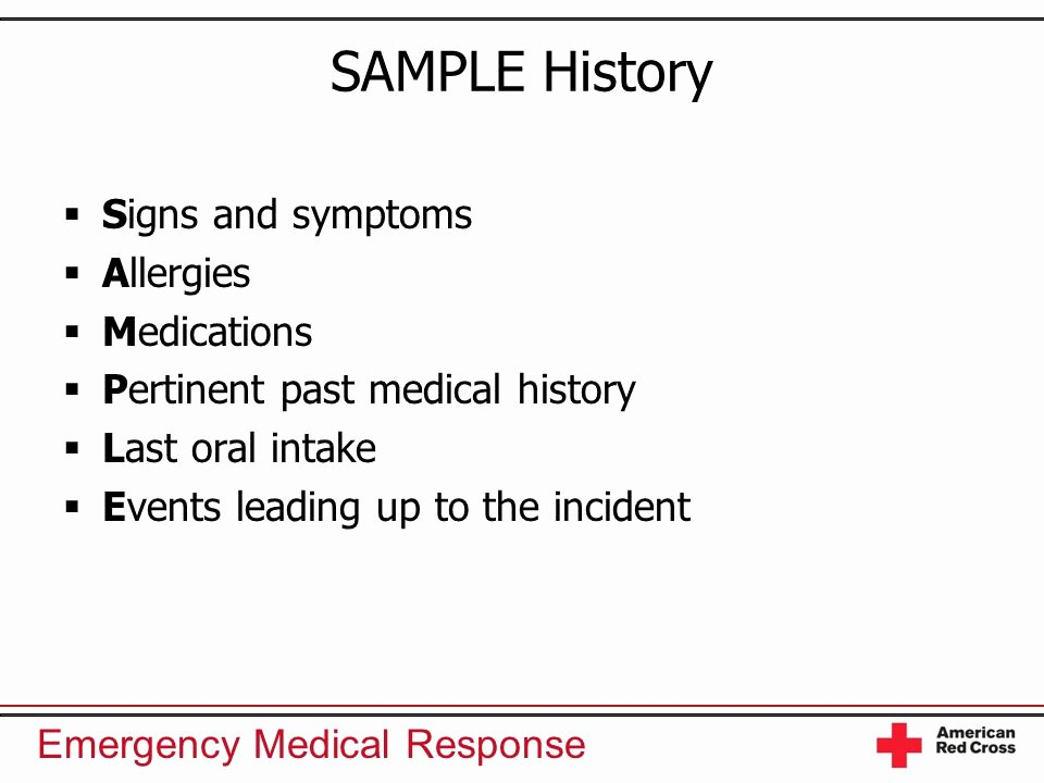Sample Health History Elegant History Taking and Secondary assessment Ppt Video Online