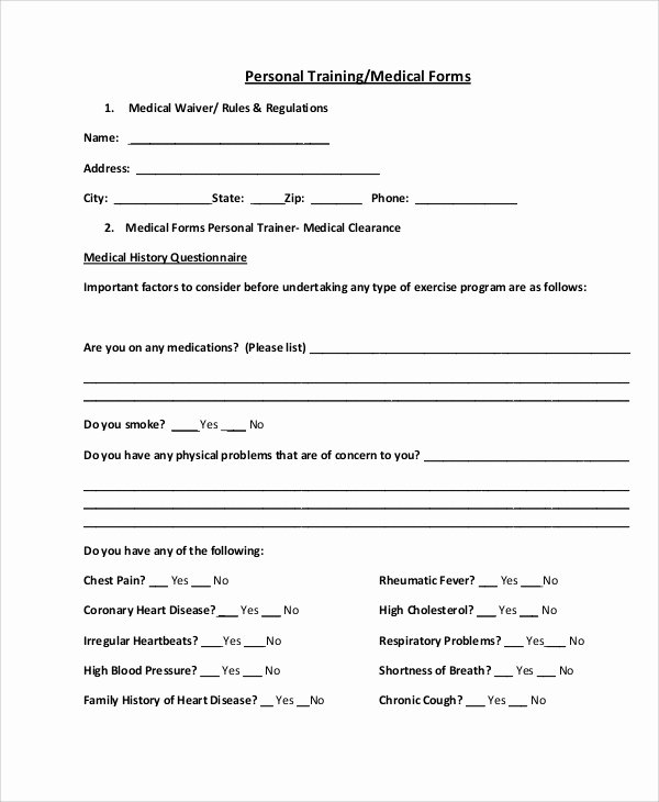 Sample Health History New 9 Sample Medical forms – Pdf Doc