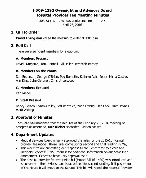 Sample Hoa Meeting Minutes Awesome 17 Board Meeting Minutes Examples