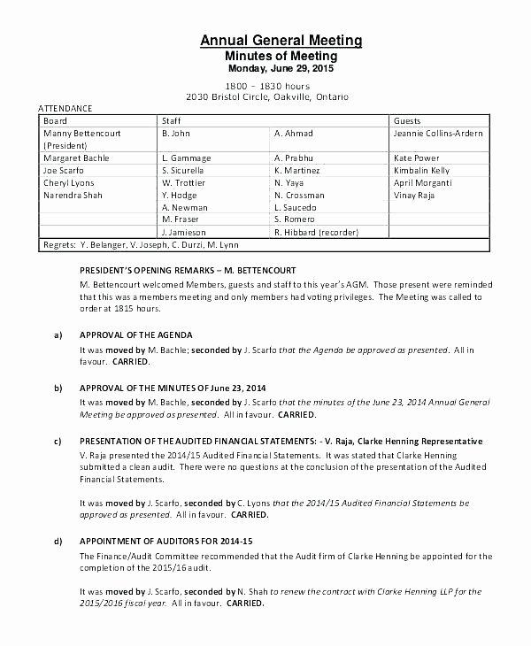 Sample Hoa Meeting Minutes Fresh Hoa Meeting Minutes Template