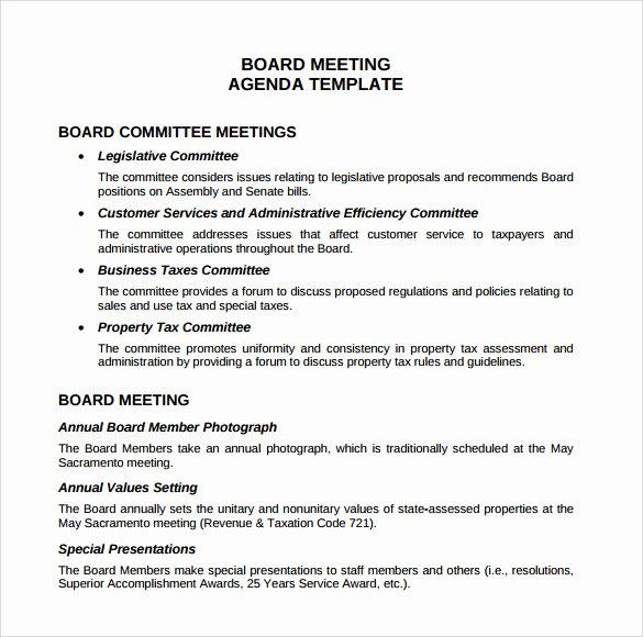 Sample Hoa Meeting Minutes Luxury Sample Board Meeting Agenda Template 11 Free Documents