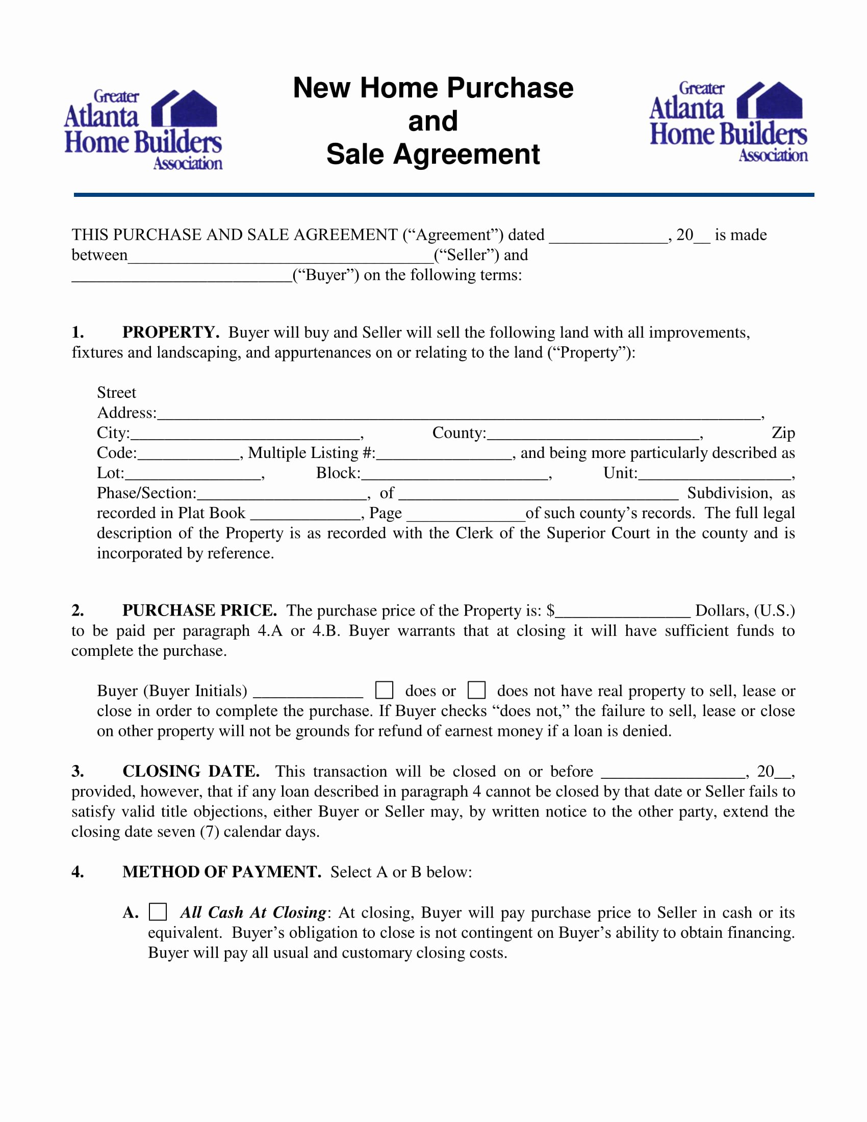 Sample Home Buyout Agreement Elegant Indiana Real Estate Purchase Agreement 2017