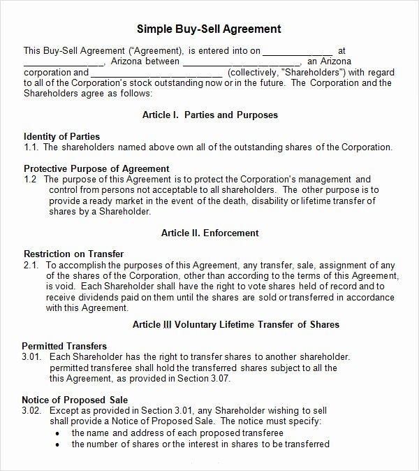 Sample Home Buyout Agreement Luxury 18 Sample Buy Sell Agreement Templates Word Pdf Pages