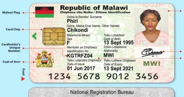 Sample Identity Card Awesome Malawi Govt Rolls Out Mass Id Registration Tar S 9