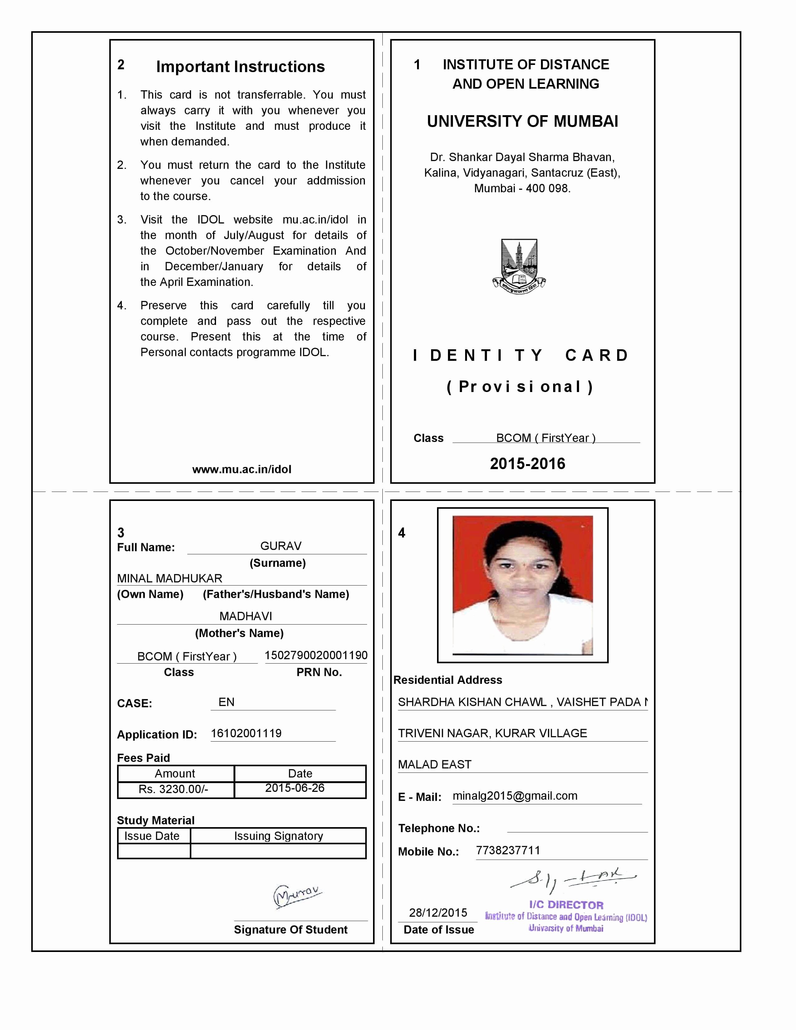 Sample Identity Card Best Of Dangerous Security Flaw In Idol S Website