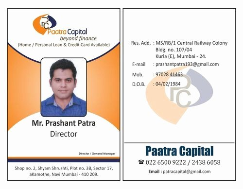 Sample Identity Card Elegant Employee Id Card at Rs 35 Piece