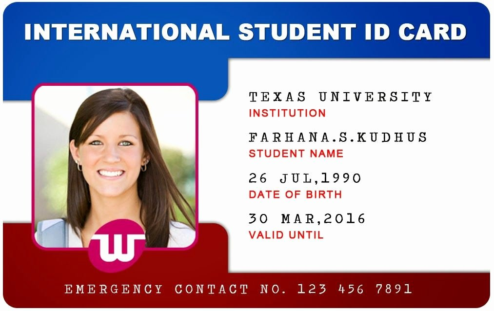 Sample Identity Card Inspirational Beautiful Student Id Card Templates Desin and Sample Word