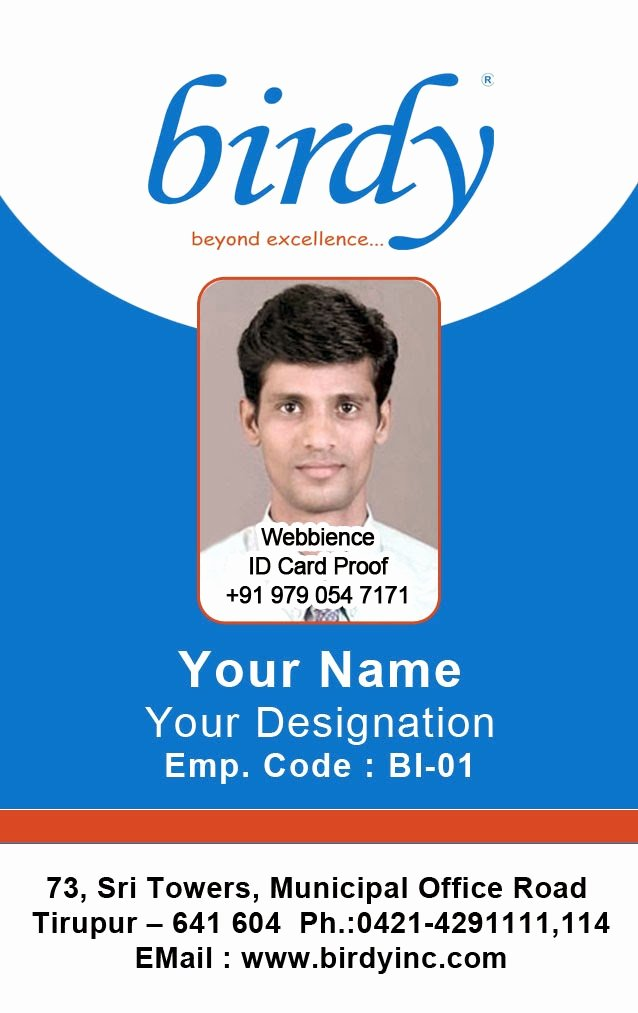 Sample Identity Card Luxury Id Card Coimbatore Ph Vertical Employee