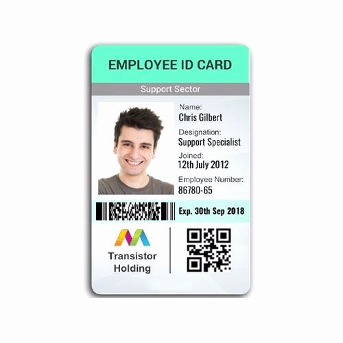 Sample Identity Card Unique Employee Id Card Employee Id Card Pany Id Card