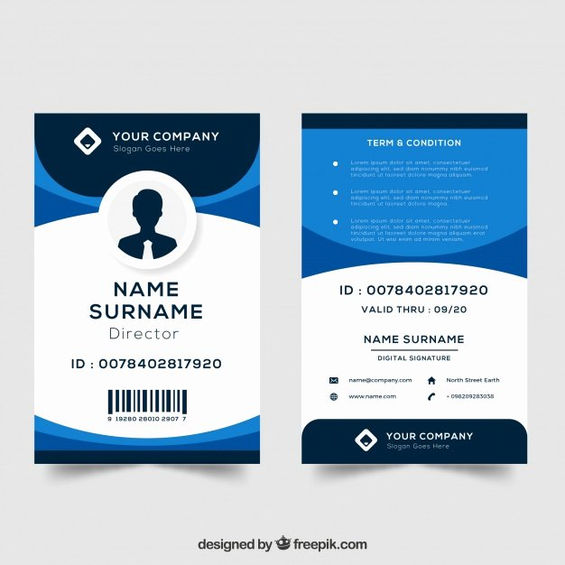 Sample Identity Card Unique Id Card Template Vector
