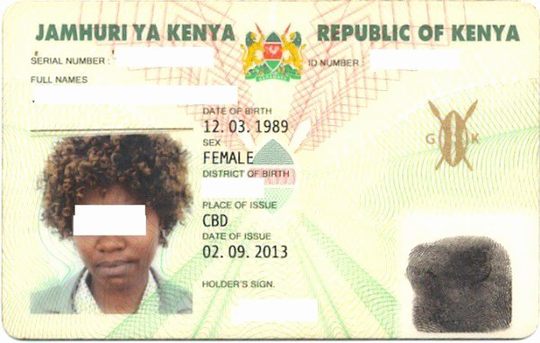 Sample Identity Card Unique Kenya Id Card Kenya National Identity Card Check Id