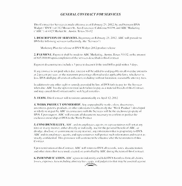 Sample Janitorial Contract Fresh Janitorial Services Contract Template
